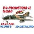 Phantom F4 USAF  1600mm